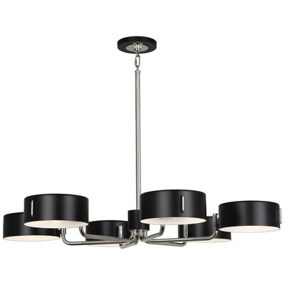 Simon 6-Light Candle-Style Chandelier Finish: Polished Nickel