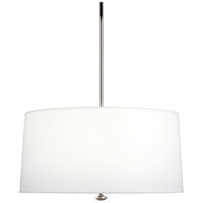 Penelope 3-Light Drum Pendant Shade Color: Ascot White