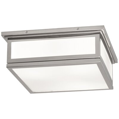 Bradley 2-Light Flush Mount Fixture Finish: Polished Nickel, Size: 5.625 H x 14.5 W x 14.5 D