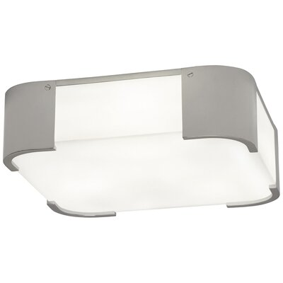 Bryce 3-Light Flush Mount Fixture Finish: Polished Nickel