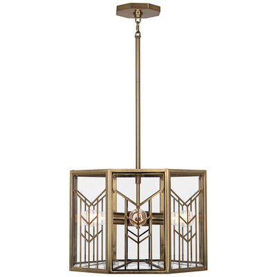 Octavius 4-Light Drum Pendant Finish: Modern Brass