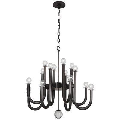 Jonathan Adler Milano 16-Light Candle-Style Chandelier Finish: Deep Patina Bronze