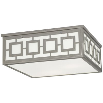 Jonathan Adler Parker 3-Light Flush Mount Fixture Finish: Polished Nickel