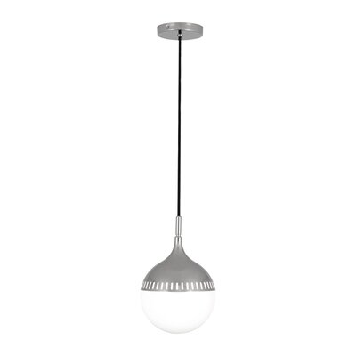 Jonathan Adler Rio 1-Light Globe Pendant Finish: Polished Nickel, Size: 12 H x 8 W x 8 D
