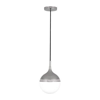Jonathan Adler Rio 1-Light Globe Pendant Finish: Polished Nickel, Size: 12