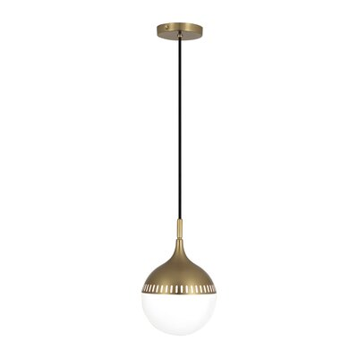 Jonathan Adler Rio 1-Light Globe Pendant Finish: Antique Brass, Size: 12