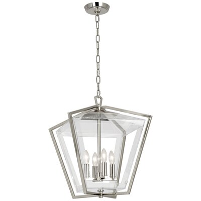 Casper 4-Light Lantern Pendant Finish: Natural Brass