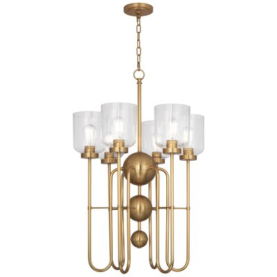 Williamsburg Tyrie 6-Light Candle-Style Chandelier Finish: Antique Brass