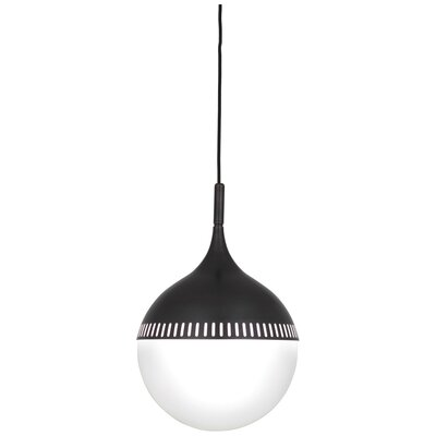 Jonathan Adler Rio 1-Light Globe Pendant Finish: Deep Patina Bronze, Size: 18.625 H x 12 W x 12 D