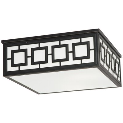 Jonathan Adler Parker 3-Light Flush Mount Fixture Finish: Deep Patina Bronze