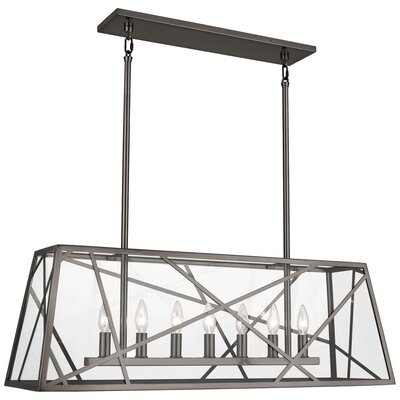 Michael Berman Bond 7-Light Kitchen Island Pendant Finish: Blackened Nickel