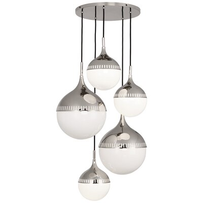Jonathan Adler Rio 7-Light Cluster Pendant Finish: Polished Nickel