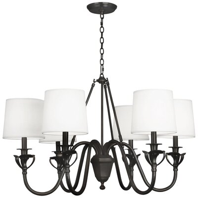 Seine 6-Light Candle-Style Chandelier Finish: Deep Patina Bronze