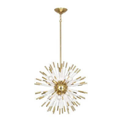 Andromeda 8-Light Sputnik Chandelier Finish: Modern Brass, Size: 20 H x 20 W x 20 D
