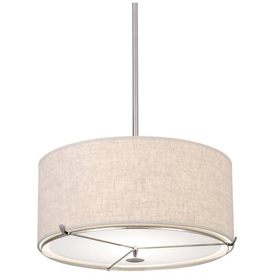 Edwin 2-Light Drum Pendant Finish: Polished Nickel