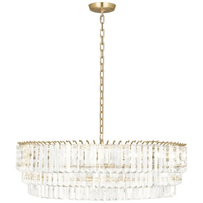 Spectrum 6-Light Crystal Pendant Finish: Modern Brass