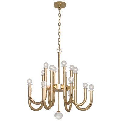 Jonathan Adler Milano 16-Light Candle-Style Chandelier Finish: Polished Brass