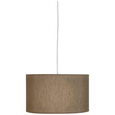 Elena 1-Light Drum Pendant Shade Color: Mushroom