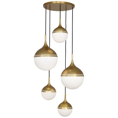 Jonathan Adler Rio 7-Light Cluster Pendant Finish: Antique Brass