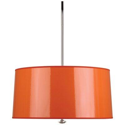 Penelope 3-Light Drum Pendant Shade Color: Orange Ceramik Parchment
