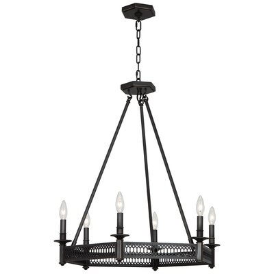 Williamsburg Tucker 6-Light Candle-Style Chandelier Finish: Deep Patina Bronze