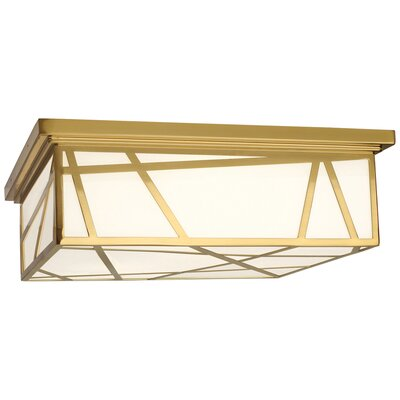 Michael Berman Bond 3-Light Flush Mount Fixture Finish: Modern Brass