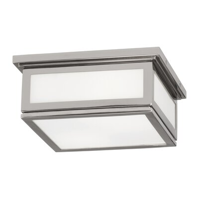Bradley 2-Light Flush Mount Fixture Finish: Polished Nickel, Size: 4.75 H x 10 W x 10 D