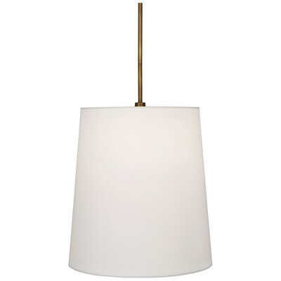 Rico Espinet Buster 1-Light Mini Pendant Finish: Aged Brass, Shade Color: Fondine