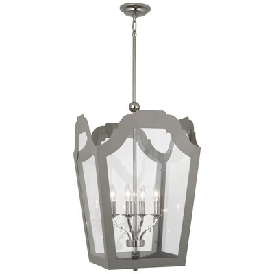 Williamsburg Tayloe 4-Light Lantern Pendant Finish: Polished Nickel