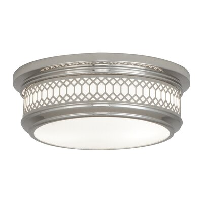 Williamsburg Tucker 2-Light Flushmount Fixture Finish: Polished Nickel