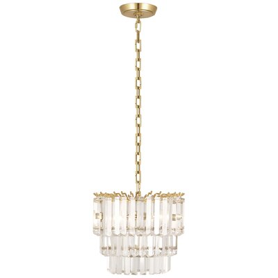 Spectrum 2-Light Crystal Pendant Finish: Modern Brass