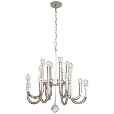 Jonathan Adler Milano 16-Light Candle-Style Chandelier Finish: Polished Nickel