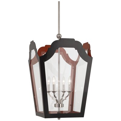 Williamsburg Tayloe 4-Light Lantern Pendant Finish: Charcoal/Dragons Blood