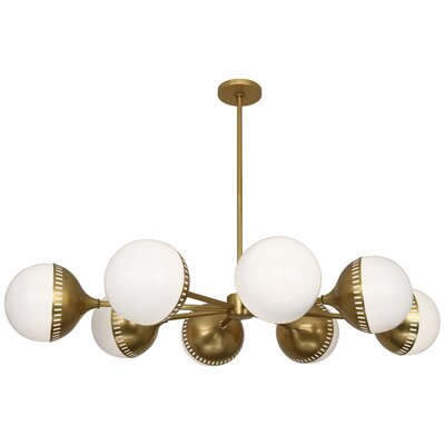 Jonathan Adler Rio 8-Light Sputnik Chandelier Finish: Antique Brass
