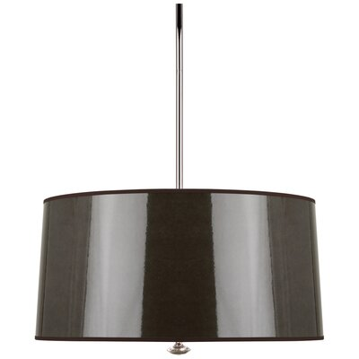 Penelope 3-Light Drum Pendant Shade Color: Taupe Ceramik Parchment