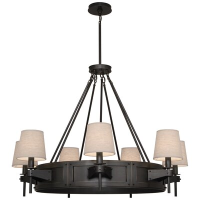 Rico Espinet Caspian 7-Light Drum Chandelier Finish: Deep Patina Bronze