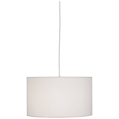 Elena 1-Light Drum Pendant Shade Color: Pearl Dupoini