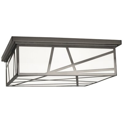Michael Berman Bond 3-Light Flush Mount Fixture Finish: Blackened Nickel