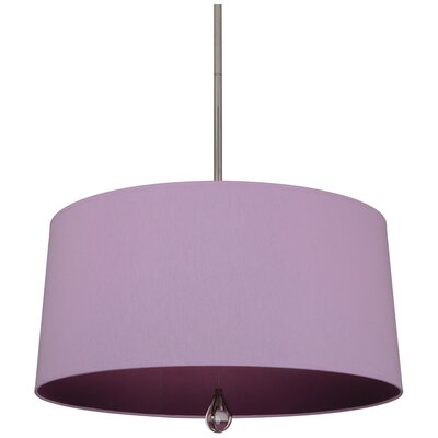 Williamsburg Custis 3-Light Drum Pendant Shade Color: Ludwell Lilac Fabric