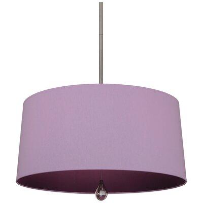 Williamsburg Custis 3-Light Drum Pendant Shade Color: Ludwell Lilac Fabric