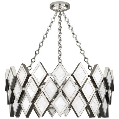 Edward 4-Light Drum Pendant Finish: Aged Brass