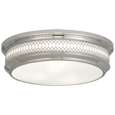 Williamsburg Tucker Flushmount Fixture Finish: Polished Nickel