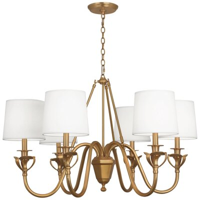 Seine 6-Light Drum Chandelier Finish: Aged Brass
