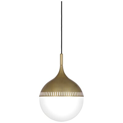 Jonathan Adler Rio 1-Light Globe Pendant Finish: Antique Brass, Size: 18.625 H x 12 W x 12 D