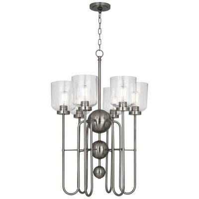 Williamsburg Tyrie 6-Light Candle-Style Chandelier Finish: Dark Antique Nickel