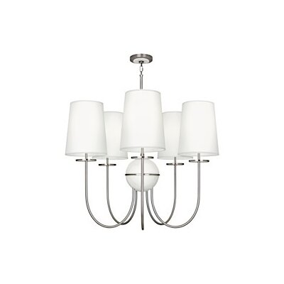 Fineas 5-Light Chandelier Shade Color: Ascot White