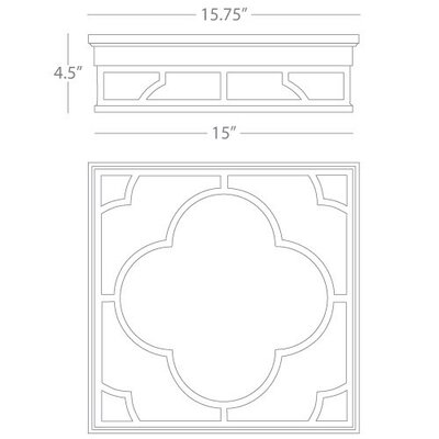 Addison Square Flush Mount Fixture Finish: Patina Nickel
