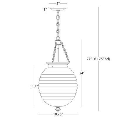 Beehive Pendant in Polished Nickel (Clear Glass Shade)