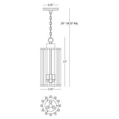 Cole 3-Light Lantern Pendant