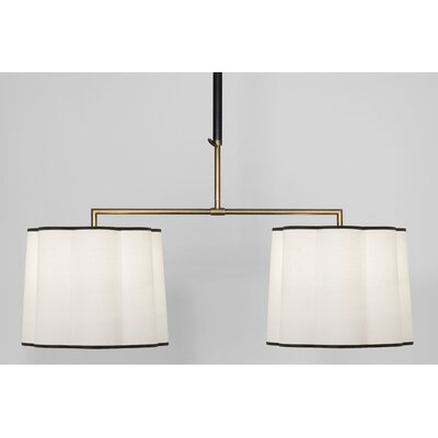 Axis 4-Light Kitchen Island Pendant Finish: Aged Natural Brass